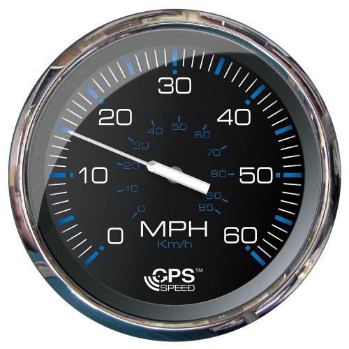 "Faria 5"" Speedometer (60 MPH) GPS (Studded) Chesapeake Black w\/Stainless Steel"