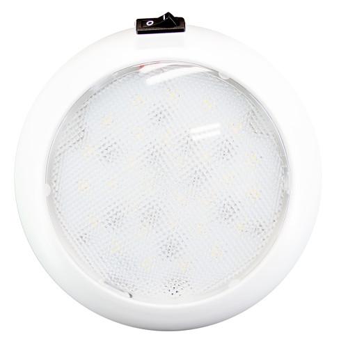 "Innovative Lighting 5.5"" Round Some Light - White\/Red LED w\/Switch - White Housing"