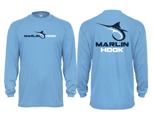 Marlin Hook Performance Shirt LS - Carolina Blue