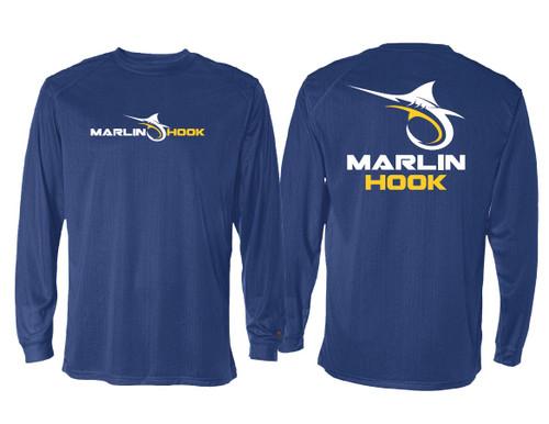 Marlin Hook Performance Shirt LS - Royal