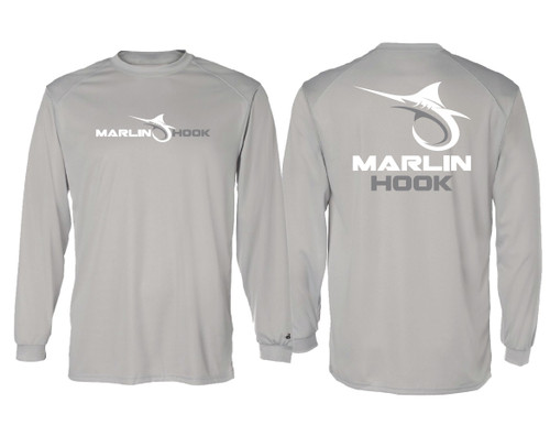 Marlin Hook Performance Shirt LS - Silver