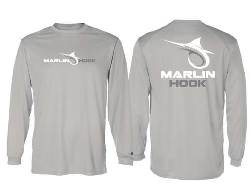 Marlin Hook Performance Shirt LS - Silver