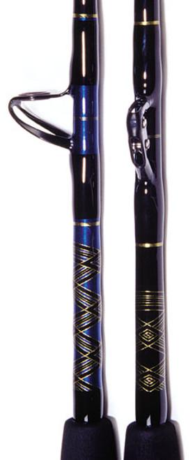 "Crowder Bluewater Big Game Wind-On Roller Rod w/ Uni-Butt SU8056WA.  5'6"" 80-130 lb. Bluewater Series Stand Up/ Aftco Wind-On Roller Guides/ Aftco Uni-Butt"