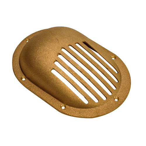 """GROCO Bronze Clam Shell Style Hull Strainer w\/Mount Ring f\/Up To 1-1\/2"""" Thru Hull"""