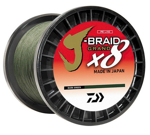 Daiwa J-Braid X8 Grand 3000yd Dark Green