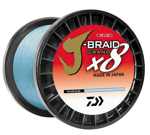 Daiwa J-Braid X8 Grand 3000yd Island Blue