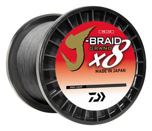 Daiwa J-Braid X8 Grand 3000yd Gray Light