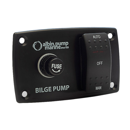 Albin Pump 3-Way Bilge Panel - 12\/24V