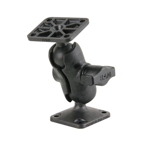 RAM Mount Composite Drill-Down Double Ball Mount w\/Rectangle AMPS Plates
