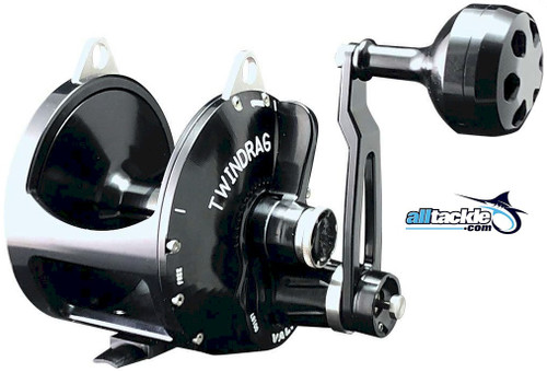 Accurate Valiant Two Speed Reel Black BV2-1000L-B Left Hand
