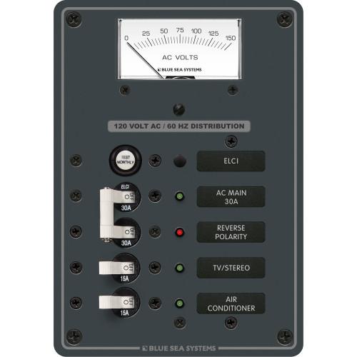 Blue Sea 8102 ELCI GFCI Panel AC 2 Position