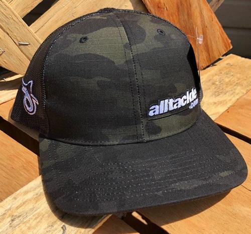 Alltackle Fishing Hat - Camo Side Hit - Black/White