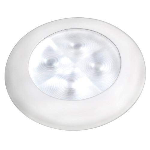 Hella Marine Courtesy Light - Warm White w\/White Rim