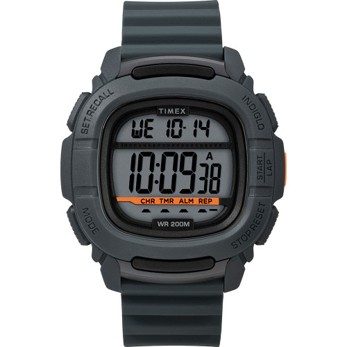 Timex DGTL BST.47 Boost Shock Watch - Grey\/Orange