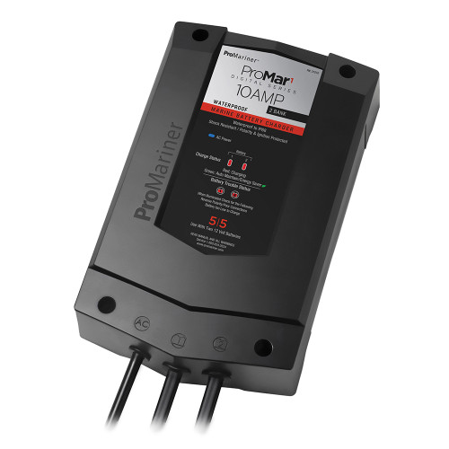 ProMariner ProMar1 DS Digital - 10 Amp - 2 Bank Charger