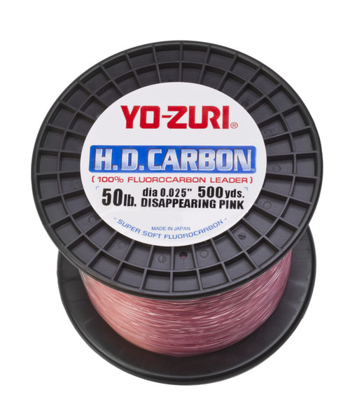 Yo-Zuri HD Carbon Flourocarbon Pink Bulk Spool