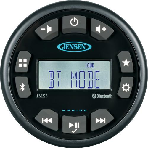 """JENSEN 3"""" JMS3RTL Bluetooth AM\/FM\/WB\/USB Waterproof Stereo - Black"""