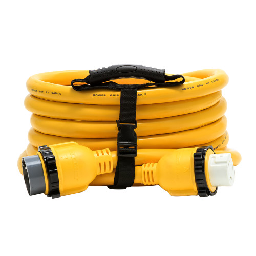 Camco 50 Amp Power Grip Marine Extension Cord - 25 M-Locking\/F-Locking Adapter