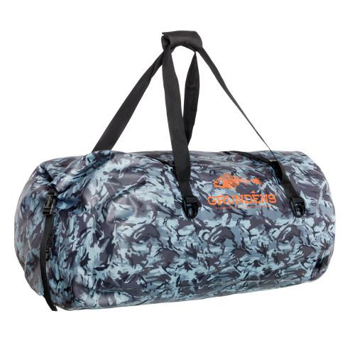 Grundens 105 Liter Shackelton Dark Slate Camo Waterproof Duffel Bag