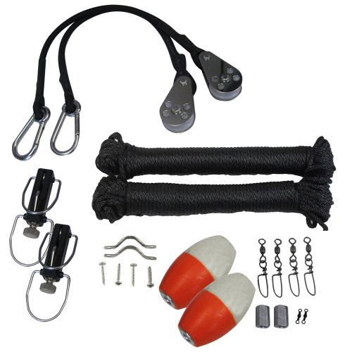 TACO Premium Rigging Kit Black f\/1 Pair Outriggers