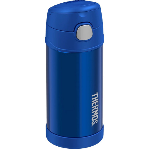 Thermos FUNtainer Stainless Steel Insulated Blue Water Bottle w\/Straw - 12oz