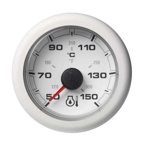 "VDO Marine 2-1\/16"" (52mm) OceanLink Engine Oil Temperature 150 C \/ 300 F - White Dial  Bezel"