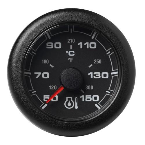 """VDO Marine 2-1\/16"""" (52mm) OceanLink Engine Oil Temperature 150 C \/ 300 F - Black Dial  Bezel"""