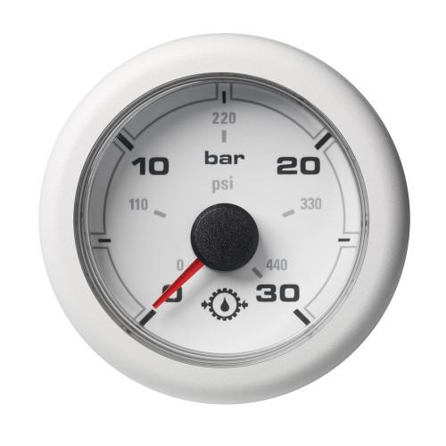 """VDO Marine 2-1\/16"""" (52MM) OceanLink Transmission Oil Pressure Gauge - White Dial  Bezel"""