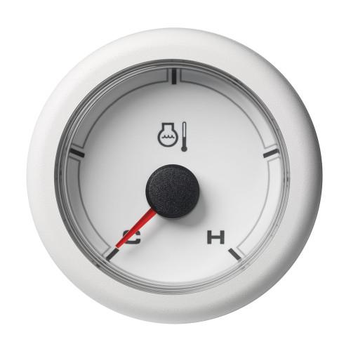 "VDO 2-1\/16"" (52MM) OceanLink Coolant Temperature Gauge - White Dial  Bezel"