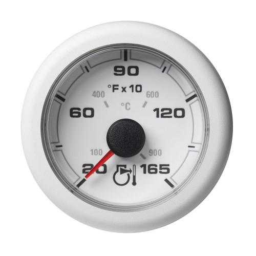 """VDO Marine 2-1\/6"""" (52MM) OceanLink Pyrometer Gauge in F - White Dial  Bezel"""