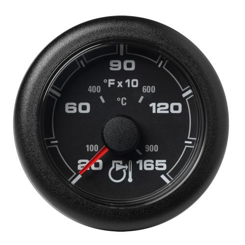 "VDO Marine 2-1\/6"" (52MM) OceanLink Pyrometer Gauge in F - Black Dial  Bezel"