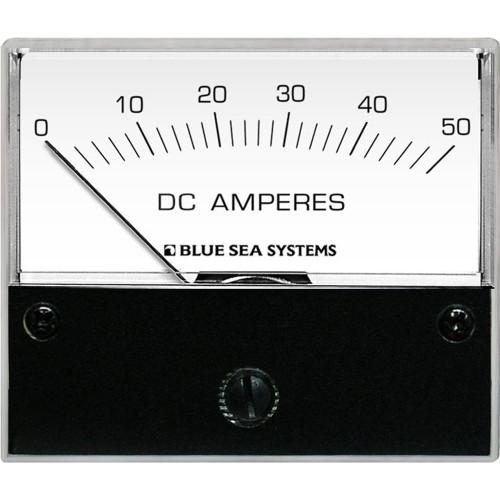 Blue Sea 8022 DC Analog Ammeter - 2-3\/4 Face, 0-50 Amperes DC