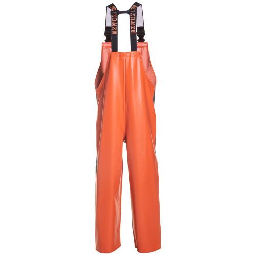 Grundens Hauler Bib - Orange/Grey - Large