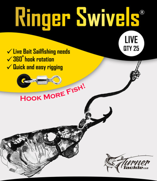 Ringer Swivels Live Bait Sailfishing - Size 1 - 25 Pack