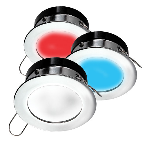 i2Systems Apeiron A1120 Spring Mount Light - Round - Red, Warm White  Blue - Polished Chrome