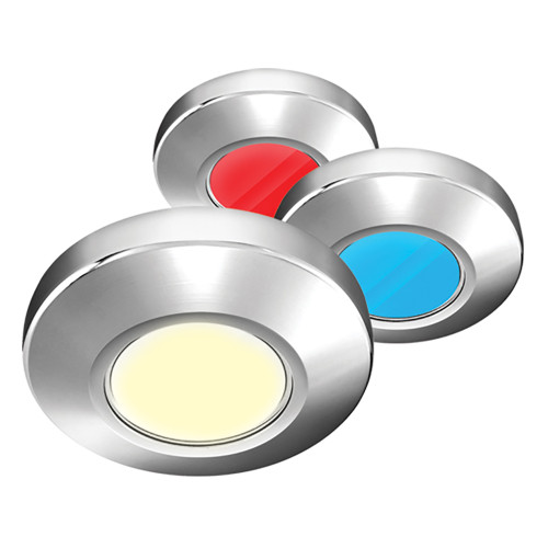 i2Systems Profile P1120 Tri-Light Surface Light - Red, Warm White  Blue - Brushed Nickel Finish