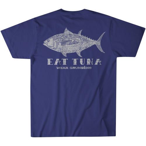 Grundens New Eat Tuna T-Shirt - Royal Blue