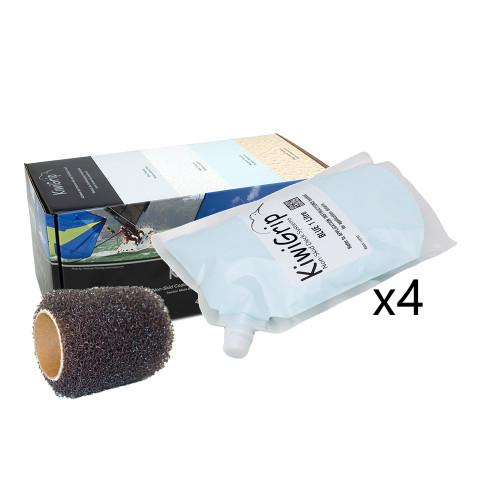 """KiwiGrip 4 - 1 Liter Pouches - Blue w\/4"""" Roller"""