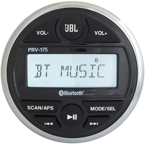 JBL PRV 175 AM\/FM\/USB\/Bluetooth Gauge Style Stereo