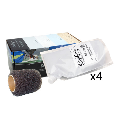 """KiwiGrip 4 - 1 Liter Pouches - Grey w\/4"""" Roller"""