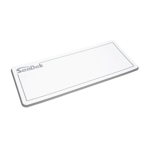 "SeaDek Dual Density Helm Pad - 14"" x 36"" 20mm - Small - White w\/Storm Gray Laser SD Logo"