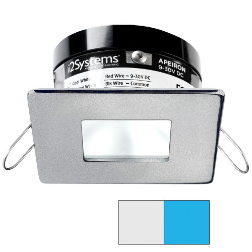 i2Systems Apeiron PRO A503 - 3W Spring Mount Light - Square\/Square - Cool White  Blue - Brushed Nickel Finish