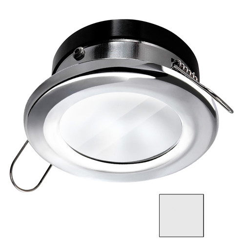 i2Systems Apeiron A1110Z - 4.5W Spring Mount Light - Round - Cool White - Chrome Finish