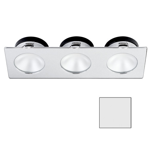 i2Systems Apeiron A1110Z - 4.5W Spring Mount Light - Triple Round - Cool White - Brushed Nickel Finish