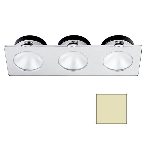 i2Systems Apeiron A1110Z - 4.5W Spring Mount Light - Triple Round - Warm White - Brushed Nickel Finish