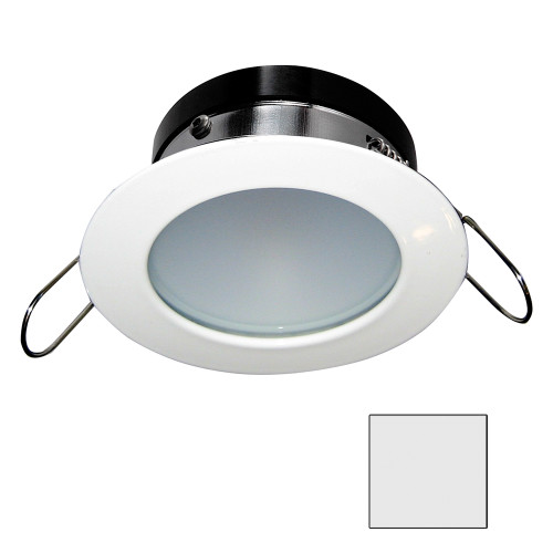 i2Systems Apeiron A1110Z - 4.5W Spring Mount Light - Round - Cool White - White Finish