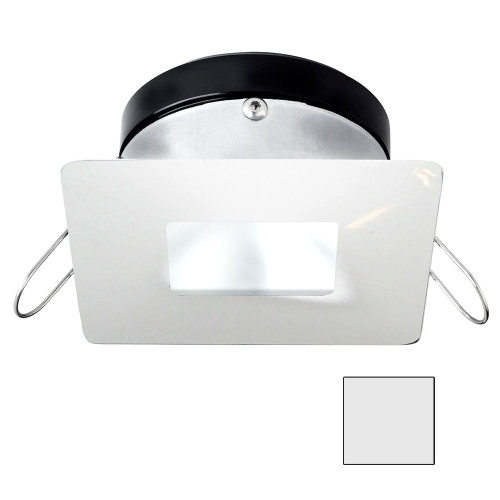 i2Systems Apeiron A1110Z - 4.5W Spring Mount Light - Square\/Square - Cool White - White Finish