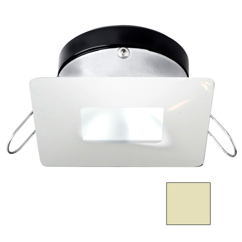 i2Systems Apeiron A1110Z - 4.5W Spring Mount Light - Square\/Square - Warm White - White Finish