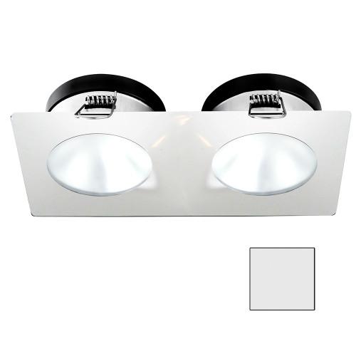 i2Systems Apeiron A1110Z - 4.5W Spring Mount Light - Double Round - Cool White - White Finish