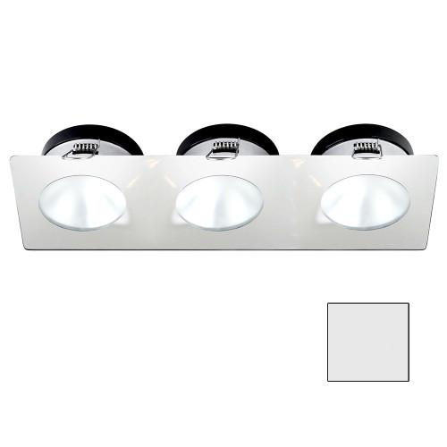 i2Systems Apeiron A1110Z - 4.5W Spring Mount Light - Triple Round - Cool White - White Finish